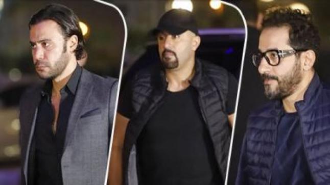 حلمي والسقا وهنيدي ومحمد إمام من عزاء الراحل هيثم زكي