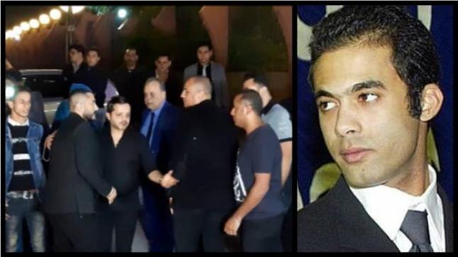 تامر حسني في عزاء الراحل هيثم أحمد زكي