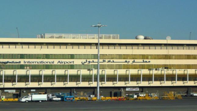 قصف صاروخي على مطار بغداد الدولي