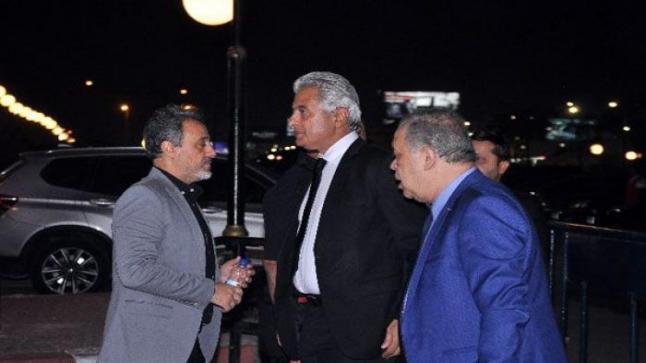 وائل الإبراشي في من عزاء هيثم زكي